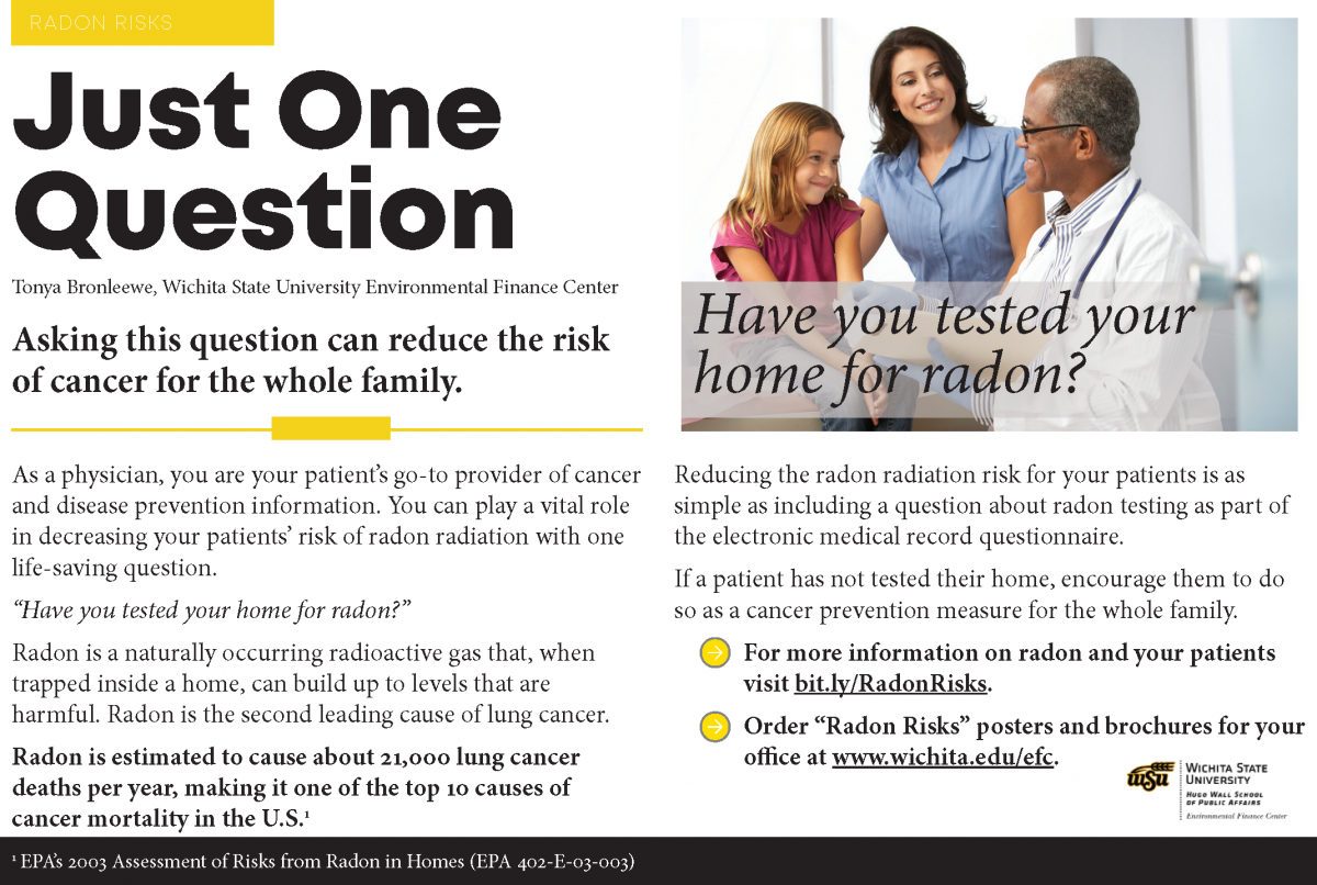 Just One Question - Have you tested for radon?