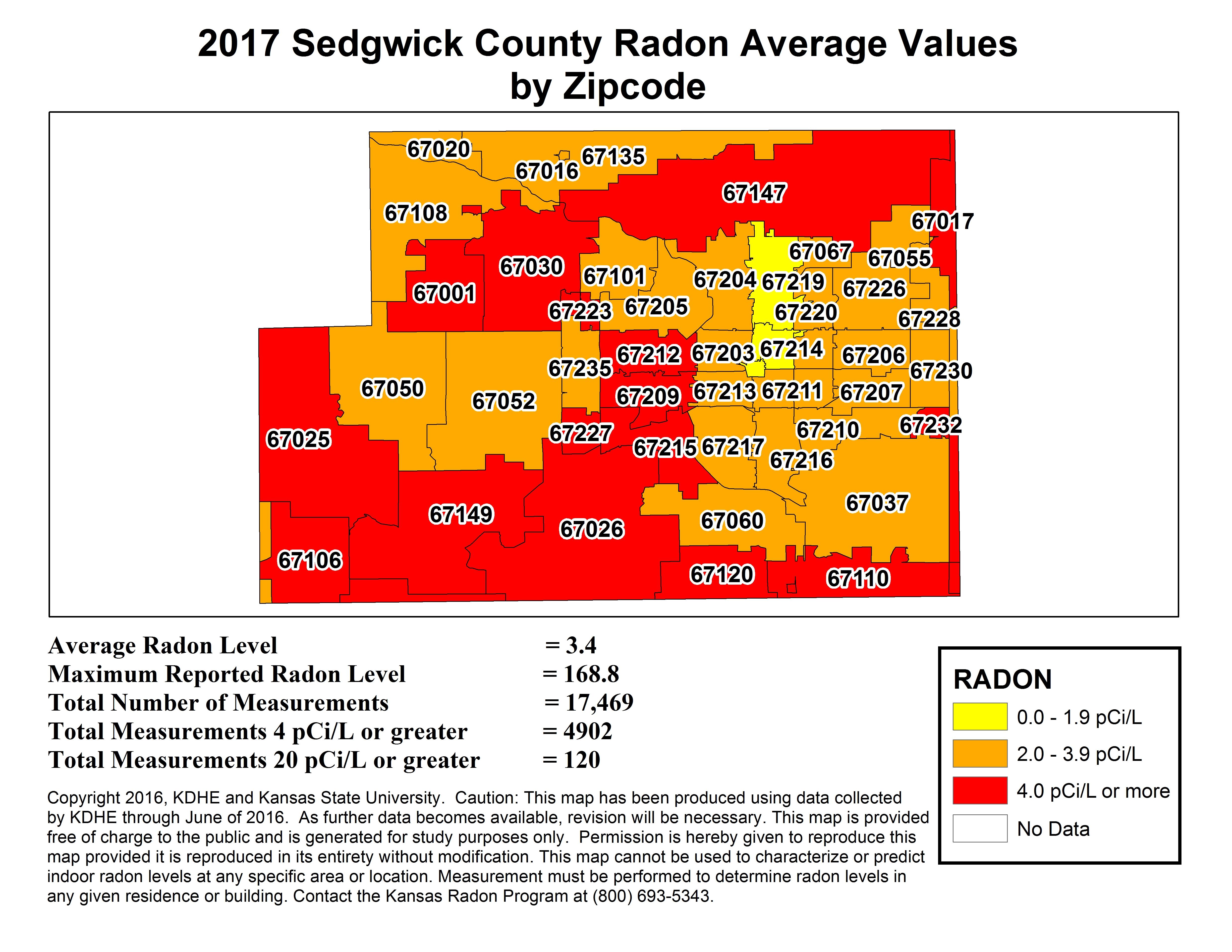 County Map | Kansas Radon Program