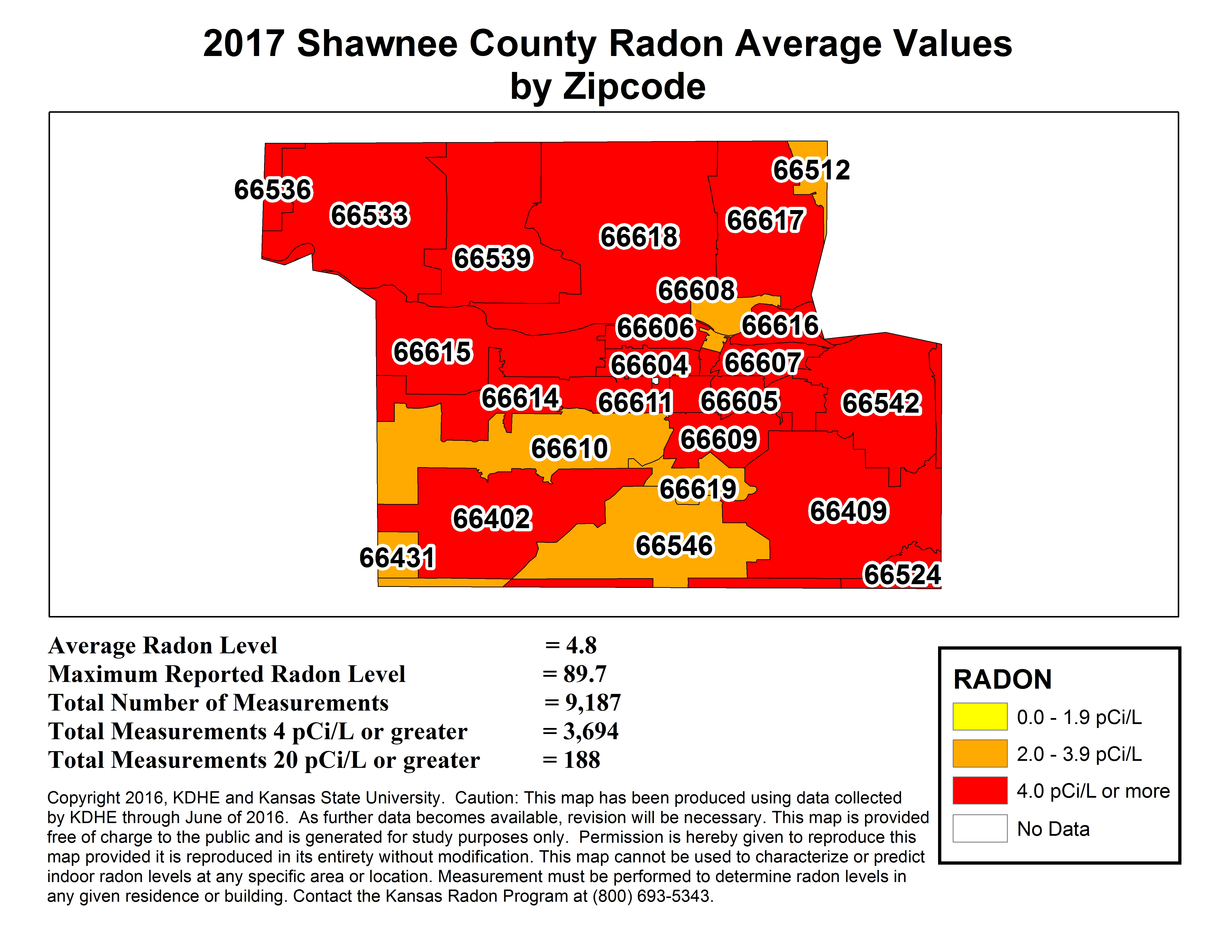 County Map Kansas Radon Program - Us state ks zip code