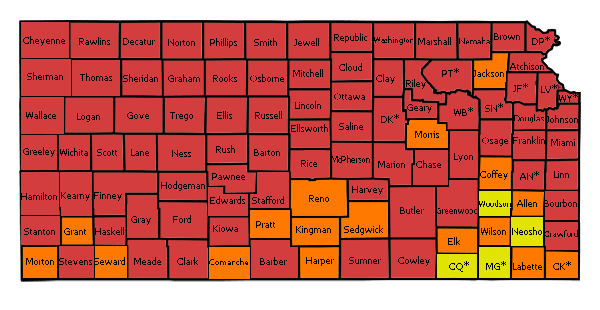 County Map Kansas Radon Program